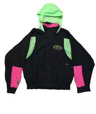Vintage NHRA Drag Racing Top Eliminator Black Neon Hooded Jacket Size S