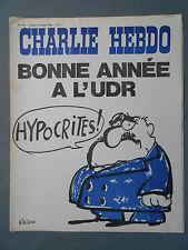 ►CHARLIE HEBDO N°111 - JANVIER 1973 -  REISER