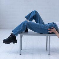 Levi's Ribcage Straight Blau Damen Vintage Jeans DE 32 / W25 L27