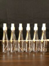 8 oz Clear Plastic Bottles! 24-410 Neck! 6 PACK!! With Sprayers!!