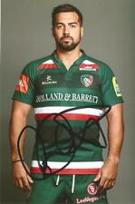 LEICESTER TIGERS RUGBY UNION: GARETH OWEN SIGNED 6x4 PORTRAIT PHOTO+COA
