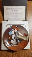 """1983 Norman Rockwell """"The Painter"""" Collectors Plate Edwin M. Knowles With Coa"""