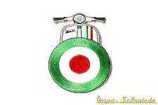 "VESPA Aufnäher ""Beinschild Target"" - Grün - Italy Italia Italien Mod Patch Rally"