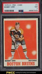 1970 O-Pee-Chee Hockey Bobby Orr #3 PSA 7 NRMT