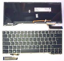 Fujitsu Lifebook E544 E733 E734 E743 E744 UK KEYBOARD GREY FRAME + BACKLIT  NEW