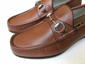 GUCCI Mens 1953 Roos Horsebit Mahogany Brown Leather Loafers UK 8 (US 8.5) $750