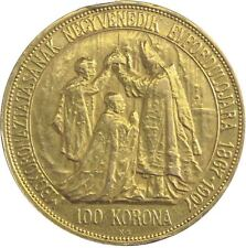 Österreich 100 Kronen 1907 Goldmünze Krönungsjubiläum als König von Ungarn L791