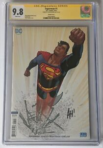 SUPERMAN #1 - CGC 9.8 / White Pages - SS Adam Hughes Variant - Krypton TV Show