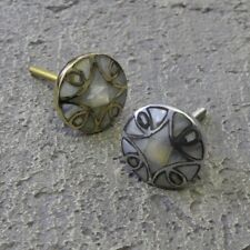 Gold Silver Mercury Glass Mother of Pearl Drawer Handles Door Knob Gisela Graham
