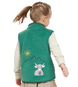 Kinder Kleinkind Fleeceweste Weste mit Motiv Stickerei Fleece von be! baby