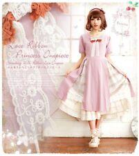 Falbala Japanese Elegant Mori Girl Fairy Loose Sweet VINTAGE Lolita Dress #G51