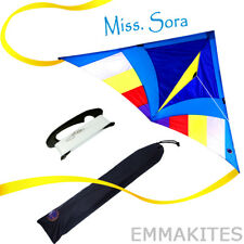 Miss SORA 5ft Delta Kite with Tails Line Easy to Fly for Kids Single Line Kite