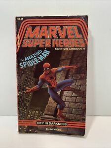 TSR Marvel Super Heroes Gamebook Amazing Spider-Man City In Darkness Jeff Grubb
