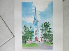 "St.Mary's Church, Lakeville, CT / Orig. W/C / 12"" x 16"" / Mimi Davis, Artist"