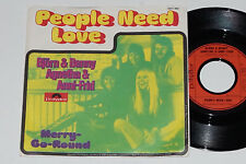 "BjÖRN & BENNY, AGNETHA & ANNI-FRID -People Need Love / Merry-Go-Round- 7"" 45"
