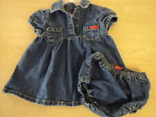 GIRLS SIZE 6-9 MONTHS GUESS BABY 2PC DENIM SUMMER DRESS VINTAGE - CUTE!