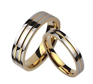 Silver / Gold Tungsten Carbide Mens / Womens Wedding Bands 6mm Wide