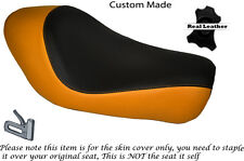 BLACK & ORANGE CUSTOM FITS HARLEY SPORTSTER LOW IRON 883 SOLO SEAT COVER