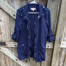 Merona Navy Blue Utility Jacket Womans Size Small
