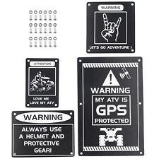 Fender Warning Tag Plates Sticker For Yamaha KODIAK 700 2016-2021 Emblem Label