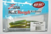 "z-man zman finesse trd 2.75/"" naturally bouyant ned rig lure green pumpkin goby"