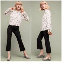 The Essential Crop Flare By Anthropologie Size 2 Trouser Black Career Pants