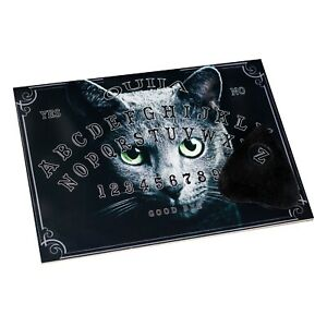 Cat Ouija Board & Planchette Spirit Communication Talking Pagan Occult Wicca A4