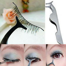 False Fake Eyelashes Tweezer clip steel Eye Lash eyelash Applicator Remover Tool