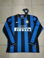 2009-10 Inter Milan Home Long Sleeve Retro Soccer Jersey