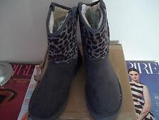 Animal Print Pull On Slim Heel Boots for Women