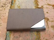Brown Leatherettestainless Steel Card Holder Business Credit Card Holder Case