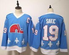 Replica Vintage Joe Sakic #19 Quebec Nordiques Jersey