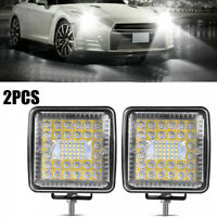 2X 4 Inch 460W Combo LED Work Light Bar Pods Flush Mount Driving Lamp 12V