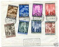 Vaticano 1950 S31 n. 132/139 busta non viaggiata (m1223)