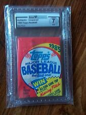 1985 Topps Baseball Pack GA Graded NM 7  Clemens, Puckett, McGwire RC