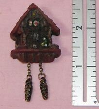 Dollhouse Miniature Clock Cuckoo Reutter Porcelain Minis 1:12