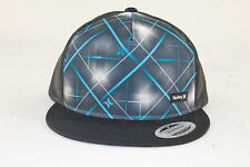 HURLEY RETRO MULTI-COLOR FLAT BILL ADJUSTABLE HAT W/ MESH BACK ONE SIZE