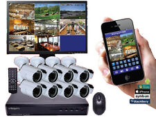 DVR 8 Canali H264-3G-RS + 8 Telecamere CCD Sony  3000TVL Telefonino e iPhone G