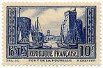 """FRANCE N°261 """"MONUMENTS ET SITES, PORT DE LA ROCHELLE 10 F"""" NEUF xTB"""