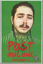 Post Malone autographed gig poster