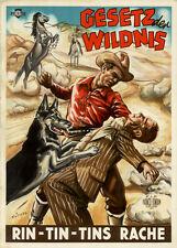 Gesetzt der Rache - Rin-Tin-Tins Rache ORIGINAL A1 Kinoplakat von 1949 RÜTTERS
