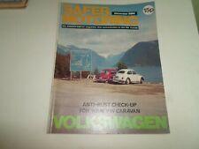 VOLKSWAGEN SAFER MOTORING December 1974 Vintage Illustrated Magazine + Adverts