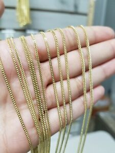 REAL 10k Yellow Gold Franco chain Necklace Men Women  STRONG 10KT For Pendant