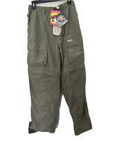 Sports Afield Fishing Hunting Pants Shorts SPF 30 Quick Dry Green Men's M