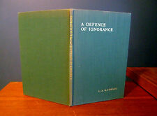 Defence Ignorance Cohn House Books Limited Edition Strong Signed Book 1932