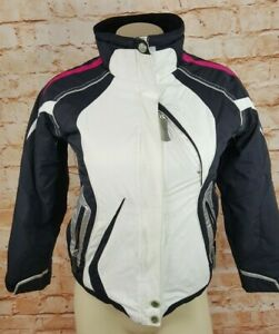 Obermeyer Snowboard Ski Jacket Youth Size 8 Nylon Waterproof Snow Guard Blk/wht