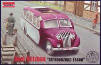 Roden 725 - Opel Blitzbus Strasenzepp  - 1/72 scale model airplane kit 116 mm