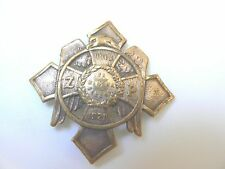 #522 POLISH POLAND PILSUDSKI LEGION MILITARY FIELD POLICE TYPE I BADGE. 1918