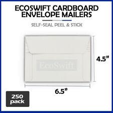 250 65 X 45 Self Seal Rigid Photo Shipping Flats Cardboard Envelope Mailers