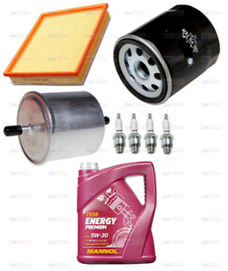 FOR FORD KA 1.3i 02-09 FULL SERVICE KIT OIL,AIR,FUEL FILTERS PLUGS & 5LTR OIL